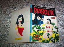 DIABOLIK ANNO V N.23 ORIGINALE 1966 BUONO TIPO NERI KRIMINAL SATANIK KILLING