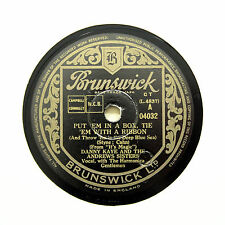 "DANNY KAYE & THE ANDREWS SISTERS ""Put 'Em In A Box"" BRUNSWICK 04032 [78 RPM]"