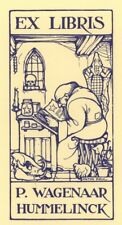 Ex Libris Anton Pieck : P. Wagenaar Hummelinck (Blue)