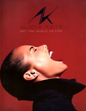 Alicia Keys 2013 Set The World On Fire Tour Concert Program Book / Nmt 2 Mint