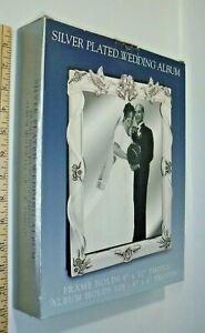 Vintage Godinger Silver Plated Satin Finish Wedding Album, Style #1071, New!
