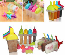 8 Pack Ice Lolly Maker Freeze Pop Smoothie Popsicle Moulds Straw Sip Yoghurt