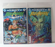 Aquaman 1 Cover A & B Variant Lot Dc Universe Rebirth 2016 1st Printing