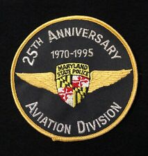 Maryland MD State Police Highway Patrol Patch AVIATION 75th ANNIVERSARY 1995