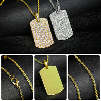 Long Chain Women Fashion Crystal Rhinestone Gold Silver Plated Pendant Necklace