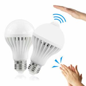 PIR Infrared Motion Sound Light Sensor Auto Detection Bulb 3 W-12 W E27 LED Lamp