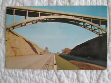 1961 Scene along the Ohio Turnpike showing Deep Cut Canyon postcard view