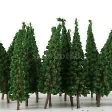 50pcs Pagoda Trees Model Train Garden Scenery Wargame Diorama Layout HO OO