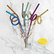 4x Creative Metal Drinking Straw Stainless Steel Drinks Straws Party 2020 Design