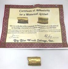 Spanish Colonial 22KT Gold Bar Circa 1550 (214.5 Grams) Big Blue Wreck Salvage