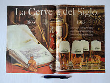 PERU advertising sheet Pilsen Callao 1963 beer label breweriana advertisement