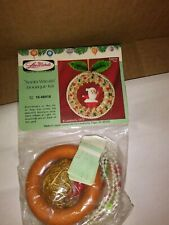 """Vintage Beaded Ornament Kit From Lee Wards """"Santa Wreath"""" Boutique Kit"""