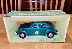 Vintage Hubley Beetle Bug Car in Original Box! Green Unopened LOOK!