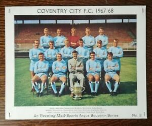 Coventry City 1967/68, Evening Mail Sports Argus Series Card  - No. 3