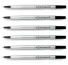6 x Parker Roller Ball Rollerball Pen Refills Black Ink, Medium Frontier Vector