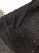 BRODERIE ANGLAISE FABRIC BLACK Dress Embroidery Material Soft Shirt Blouse Craft