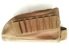 Airsoft Rifle Stock Ammo Pouch Bag Cheek Leather Pad (Right Hand, Tan) 0041B