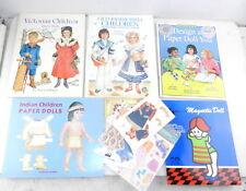 5 Paper Doll Cut-Out Books Victorian,Native Indian,Modern ~Uncut~ B09E