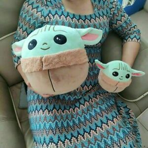 Baby Yoda Toy Stuffed Cute Plush Fluffy Plushie Soft and Cuddly Baby Doll