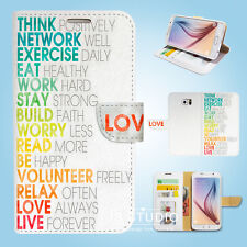 Samsung Galaxy S3 4 5 6 7 8 Edge Plus Note Wallet Case Cover Life Quote S119
