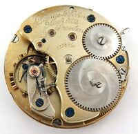.ANTIQUE A LANGE & SOHNE, GLASHUTTE, DRESDEN POCKET WATCH MOVEMENT & DIAL.
