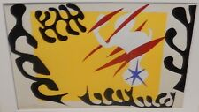 """HENRI MATISSE """"THE CUT-OUTS"""" YELLOW AND BLACK SMALL COLOR MOMA SILKSCREEN"""