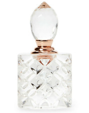 Oleg Cassini Crystal Perfume Bottle Rose # 3 Laser Engraved Signature New