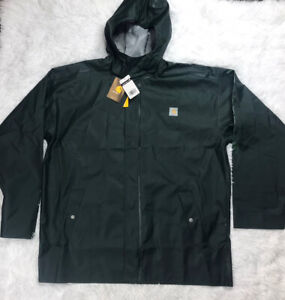 Carhartt Waterproof Raincoat Jacket Mens Size M Medium Green Lightweight New NWT
