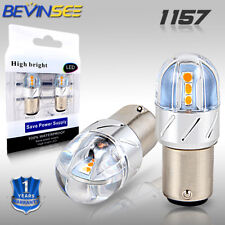 Bevinsee 1157 Yellow LED Turn Signal Brake Tail Light Bulb For Chevy Chevelle