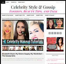 Celebrity Gossip Amp Style Blog Website Business For Sale With Automatic Content