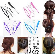 Fashion Hair Twist Styling Clip Stick Bun Maker Braid Hair Accessories Tool 4Pcs
