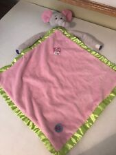 KUSHIES KRITTERS ELEPHANT SECURITY BLANKET LOVEY PINK PURPLE LAVENDER LIME GREEN