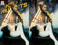 New Mutants 1 DX Marvel 2019 NM Adi Granov Virgin Set Variant Magik White Queen