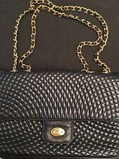 BALLY Quilted Double Flap Vintage Shoulder Bag