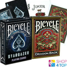 2 DECKS BICYCLE 1 STARGAZER AND 1 GOLD DRAGON PLAYING CARDS TRICKS USPCC NEW