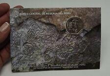 1 SOL 2015 COIN BLISTER RIQUEZA ORGULLO DEL PERU PETROGLIFOS DE PUSHARO # 20 UNC