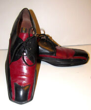Stacy Adams Mens Dress Shoes Red & Black Leather Two Tone Oxfords Size 10 M