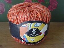 Schewe Wolle Effektgarn KISS ME 50 gr original orange rot made in Italy Perlmutt