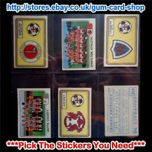 PANINI FOOTBALL 79  (CARDS 400 TO 499) (G) ***PICK THE STICKERS YOU NEED***