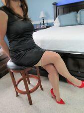 *Wacoal* Black 100% Soft Nylon Mid Length Sleep Gown/Slip Sz Med.