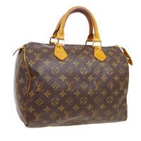 LOUIS VUITTON SPEEDY 30 HAND BAG TH0021 PURSE MONOGRAM CANVAS M41526 A54174a
