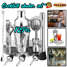 12pcs Stainless Steel Cocktail Shaker Mixer Drink Bartender Tools Bar Set Kit