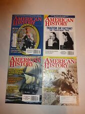 Lot of 4 American History Magazine - 2002-2003 Past Issues  B152