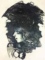 GRAVURE. FEMME. 6E. EPREUVE D'ARTISTE. SIGNÉ. CUIXART MODESTO. ESPAGNE. 1986