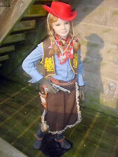 Vintage Child 8 Year Old Cow Girl Western Style Mannequin, Hat Spurs Boots Vest