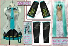 VOCALOID 2 HATSUME MIKU COSPLAY COSTUME WITH WIG