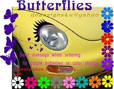 Any Car Eyelashes headlight Purple eyeliner butterfly 2011 12 14 15 16 17 VW USA