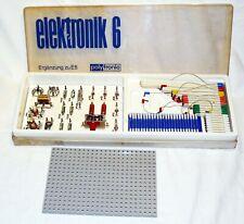 Polytronic Elektronik 6 (Ergänzung zu 5) / DDR Elektro Baukasten ? unbespielt E