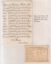 PAGES OF HOUNOUR'S ROSTER 1884 LADIES WAITS LIST 1899 QUEEN VICTORIA