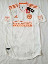 Mens Sz Small White Orange Adidas Climacool Authentic Atlanta United MLS Jersey